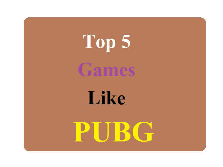 Top 5 Games Like PUBG that you can play at PUBG's Place